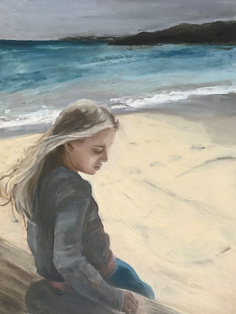 Young Woman on the Shore 1