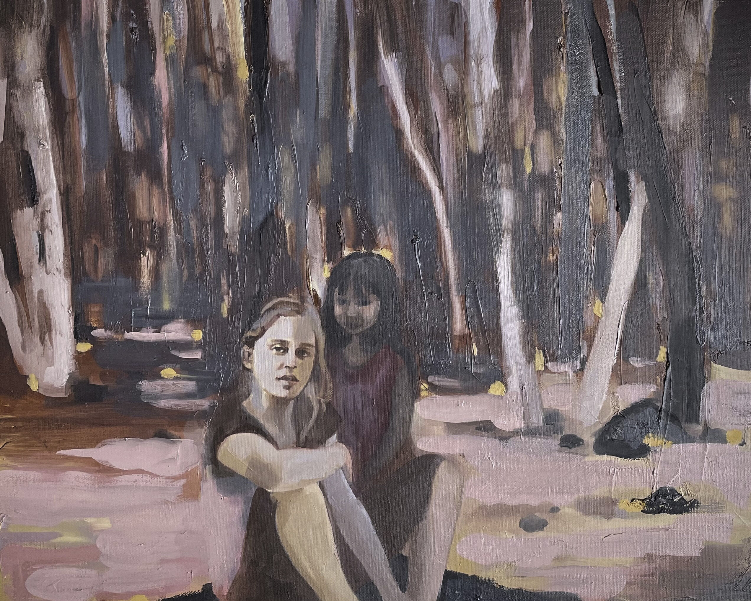 Patrice Wills_New Ground_She Said_oil on linen_ 50x40