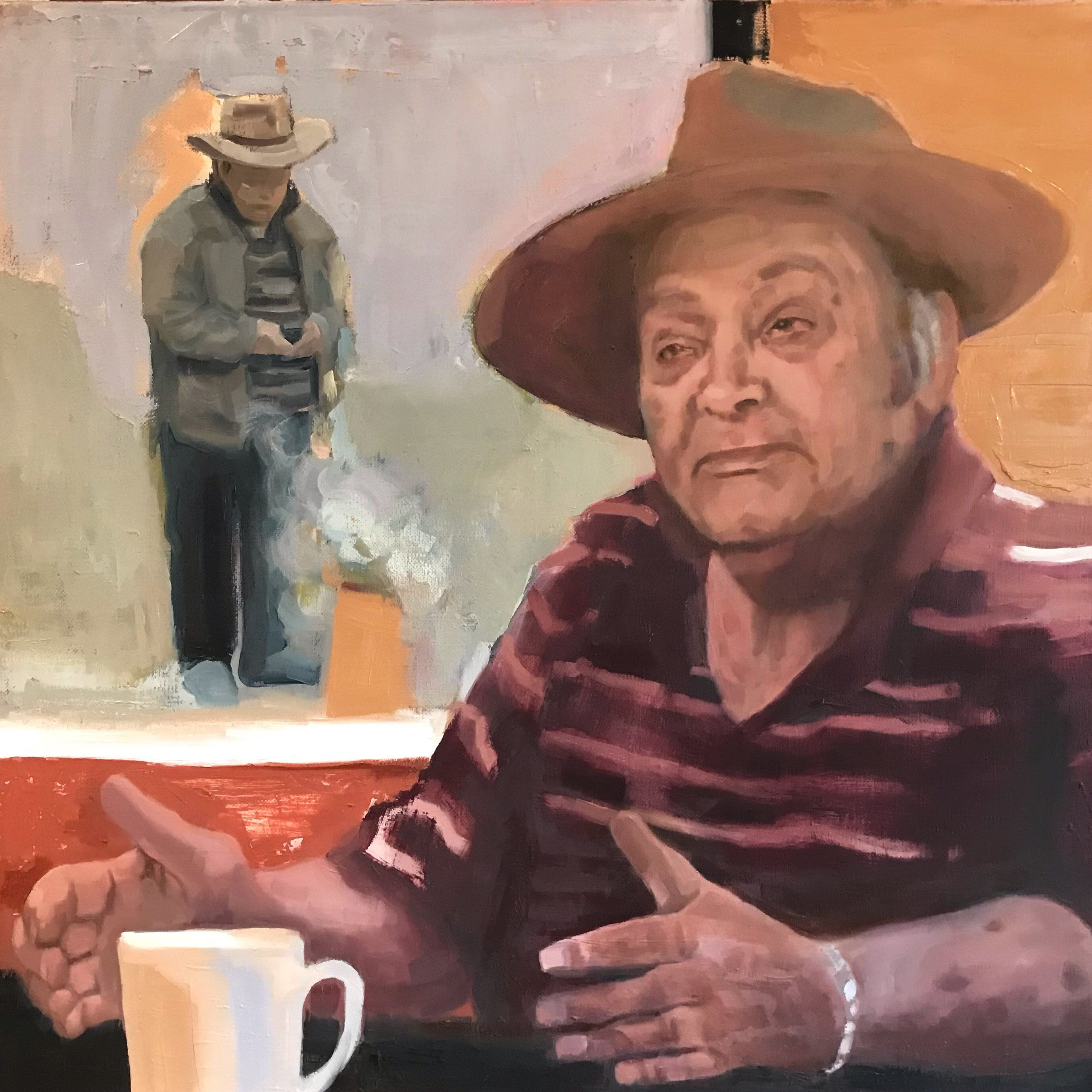 Fire Bucket - portrait of Uncle Wes Marne