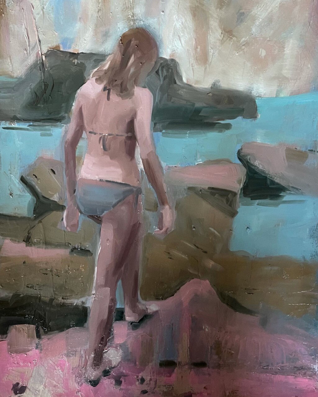 Young Woman on the Shore