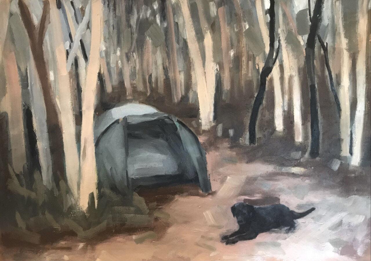 Hill End study (campsite)