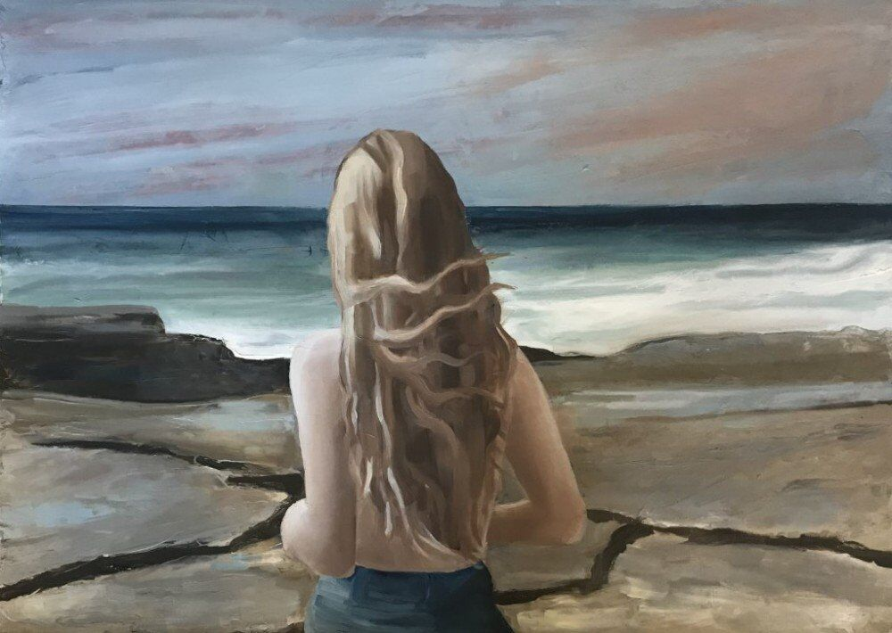 Young Woman on the Shore 2